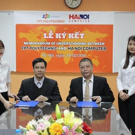 Cao đẳng FPT và HaNoi Computer ký kết thỏa thuận hợp tác