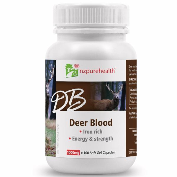 DEER BLOOD NZPUREHEALTH ( VIÊN NANG MÁU HƯƠU )