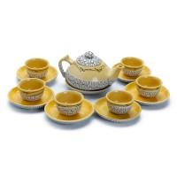 Bộ trà dẹt  rạn   - T588