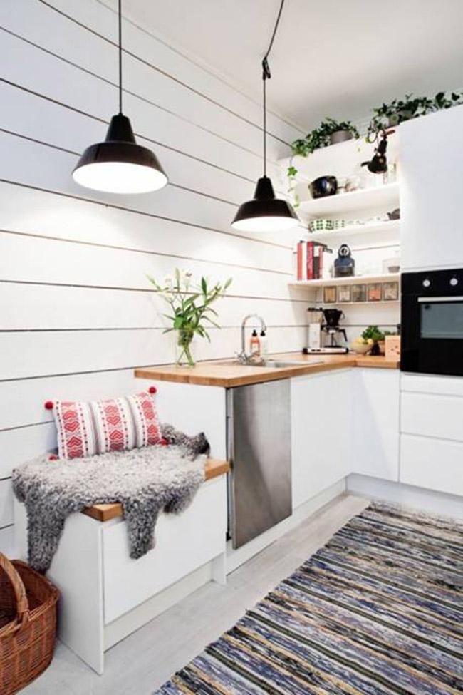 Những căn bếp đẹp lý tưởng có diện tích chưa đầy 9m2