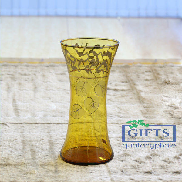 bình hoa pha lê cao cấp, bình hoa pha lê nhập khẩu, bình hoa mạ vàng