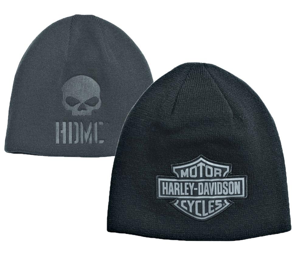 Harley-Davidson Hats & Caps [Winter 2018 ]: Harley-Davidson Men's Engulfed Flaming Skull Head Wrap,