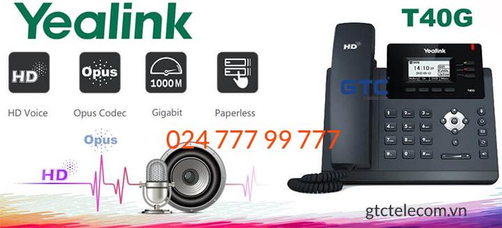 Điện thoại IP Yealink SIP-T40G linh hoạt - Giá điện thoại IP SIP T40G!