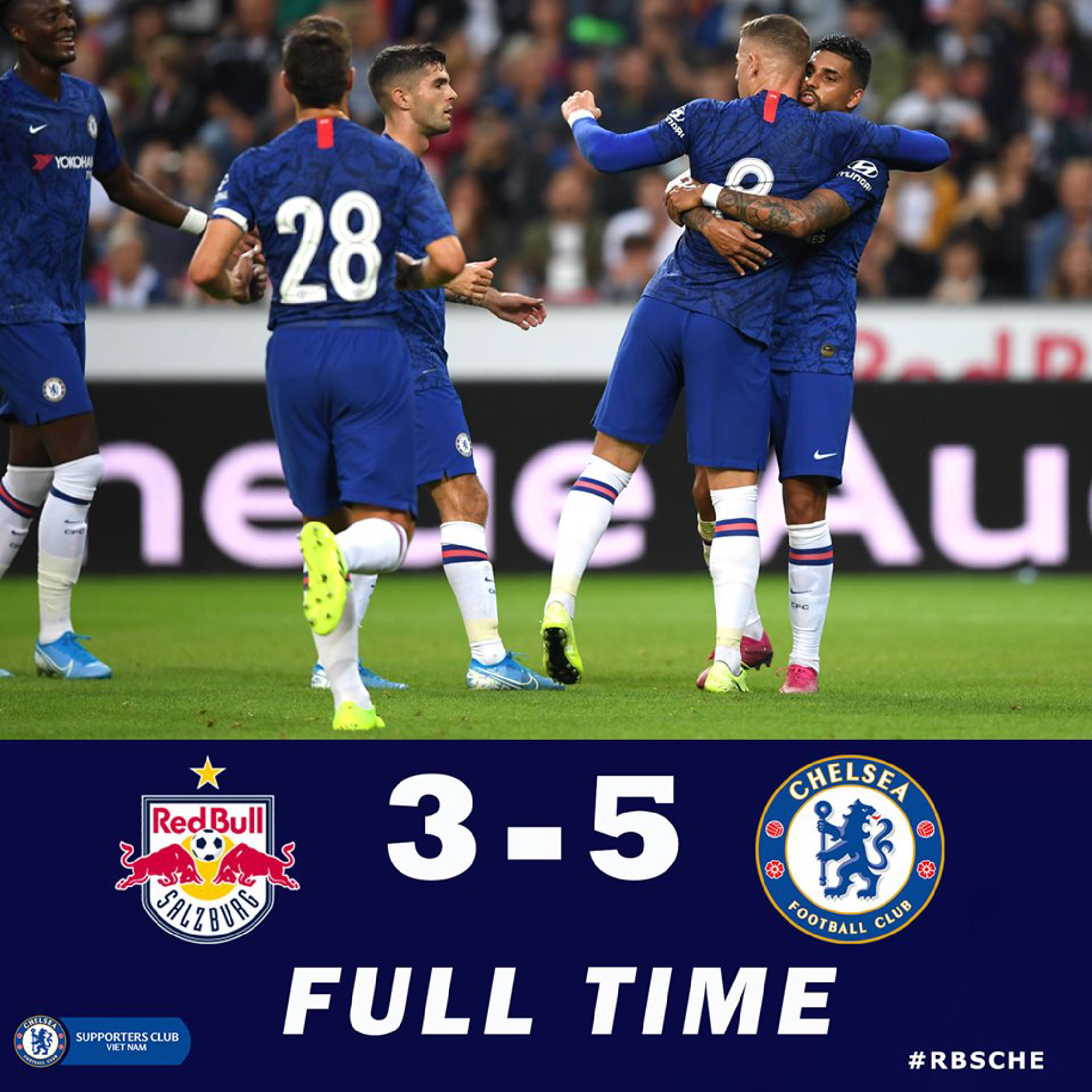 RB Salzburg 3-5 Chelsea: Tân binh Pulisic tỏa sáng