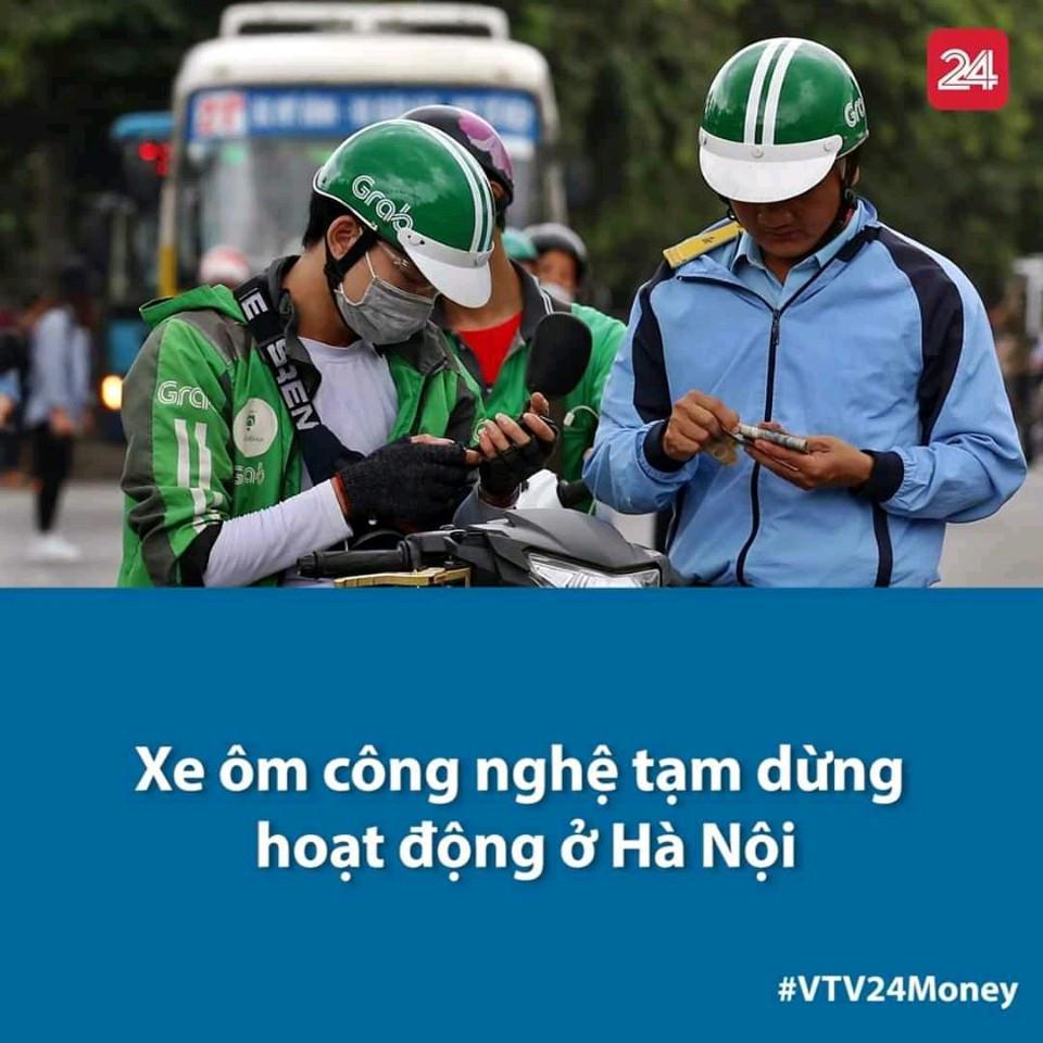 Grab và GoViet thông báo sẽ tạm dừng hoạt động xe ôm công nghệ tại Hà Nội đến hết ngày 15/4 theo Chỉ thị 16 của TTCP.