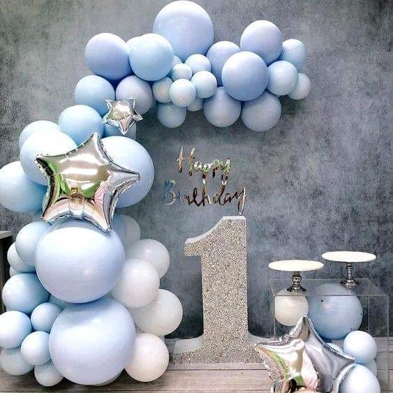 tiệc tông xanh xinh xắn