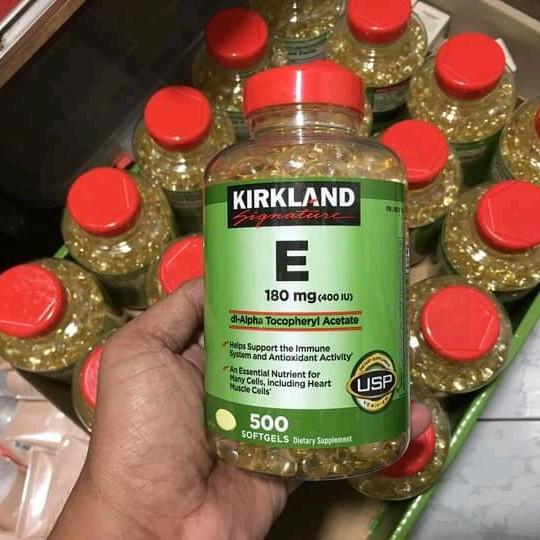 - Bữa giờ hết hàng tè le, nay #vitamin #E #Kirkland có lại hàng rồi ạ ... khách còn cần thì inbox em nhé!  ✔️ 550k / hủ 500 viên  🛬