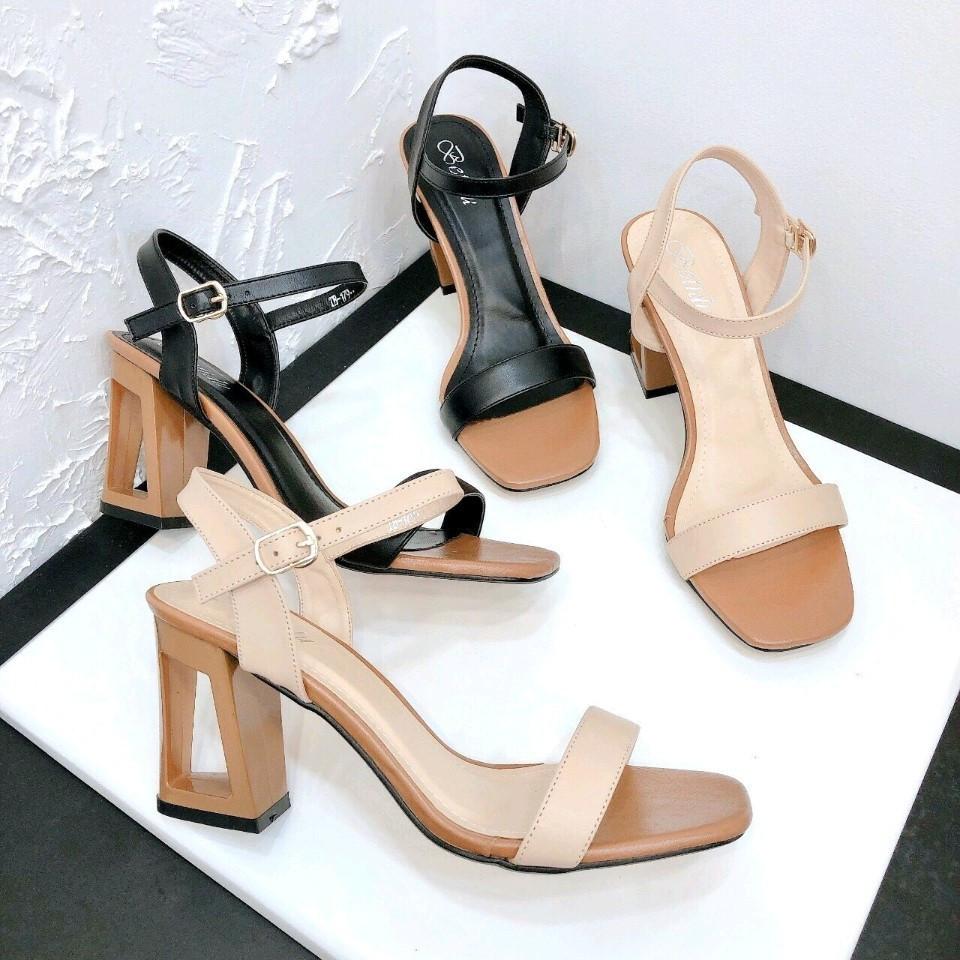 - - Sandal gót lỗ phối màu - sang chảnh - tôn dáng  250/1 cao 7p  - Size : 35 36 37 38 39  😍 Hình thật 100% y hình