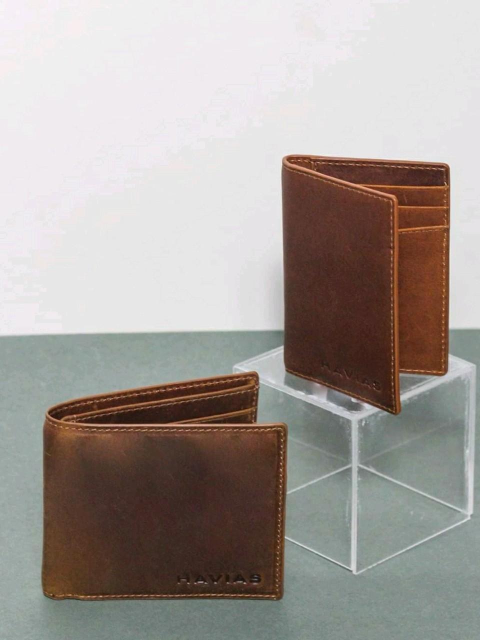 Couple Ví Enus & Gapple Handcrafted Wallet Brown