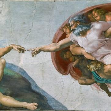 """Bí mật số4: """"Sự sáng tạo ra Adam"""" của Michelangelo."""