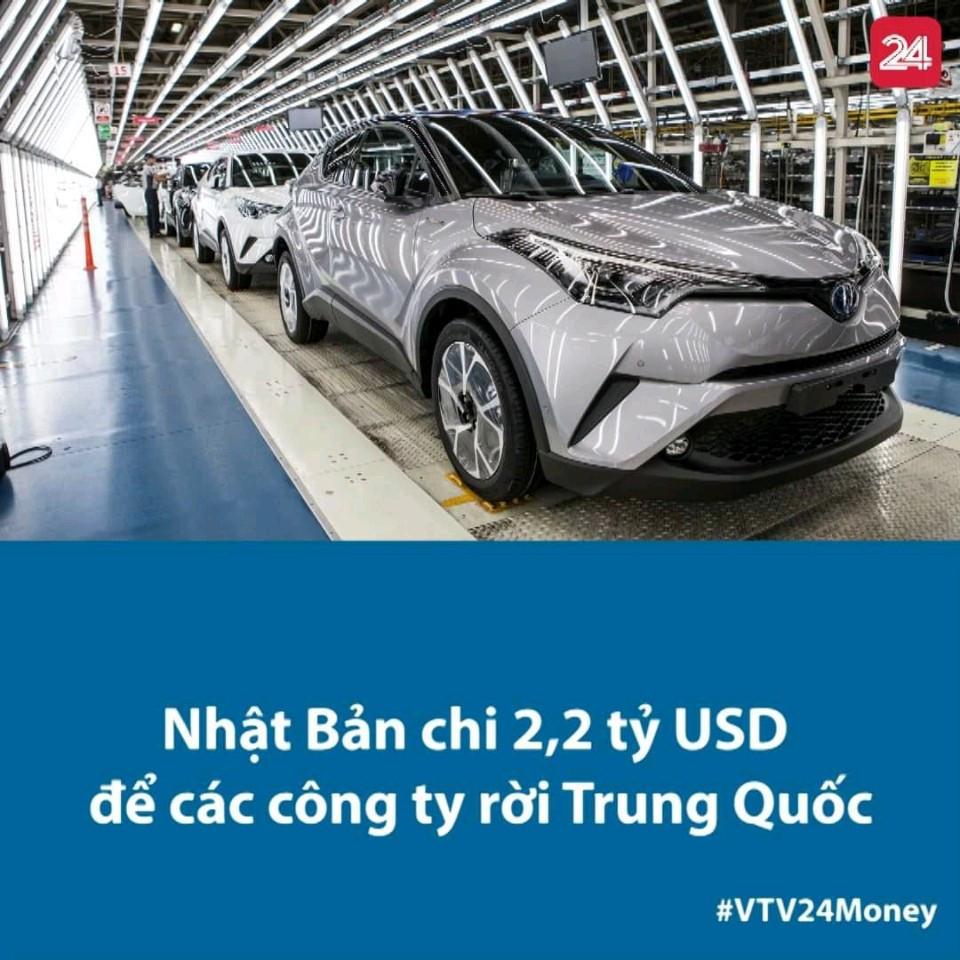 Nhật Bản sẽ chi 2,2 tỷ USD trong gói cứu trợ kinh tế khẩn cấp để giúp các doanh nghiệp chuyển nhà máy khỏi Trung Quốc.