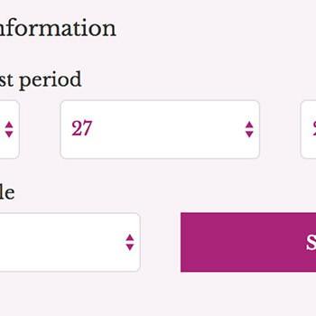 Sử dụng công cụ tính ngày rụng trứng online