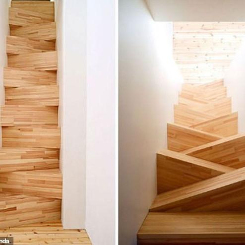 Cầu thang hình tam giác