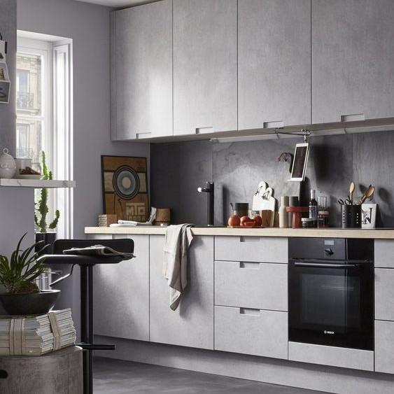 Kiểu 2: Thiết kế nội thất phòng bếp hình chữ I