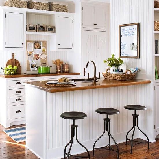 Kiểu 4: Mẫu thiết kế phòng bếp tích hợp quầy bar