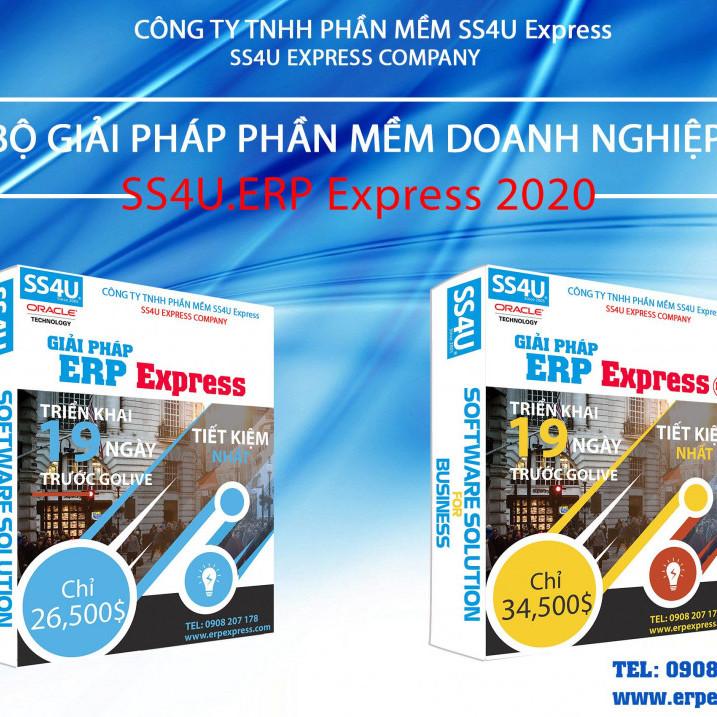 Ngày 02/01/2020, SS4U xin trân trọng thông báo phát hành CHÍNH THỨC sản phẩm SS4U.ERP Express phiên bản 2020.