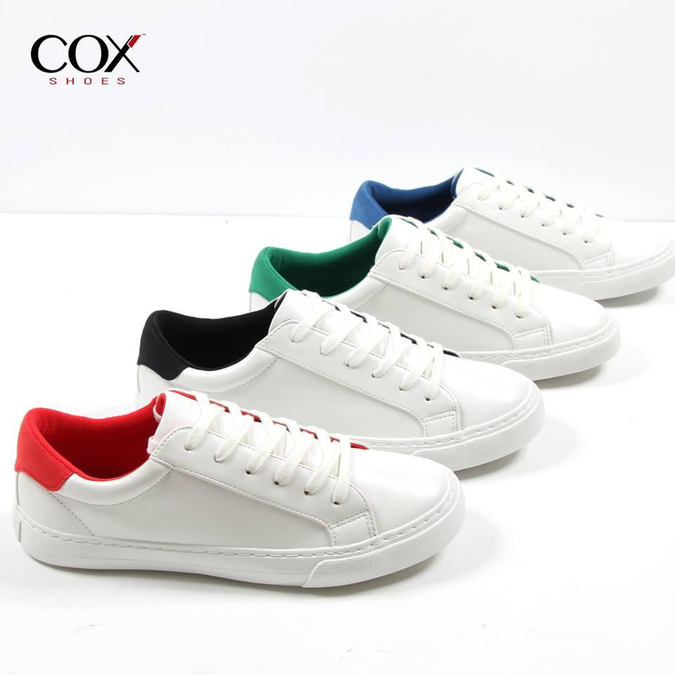 Giày Cox Cặp Nam Nữ Trắng Xanh Dương