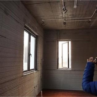 Bên trong ngôi nhà được xây bằng công nghệ in 3D