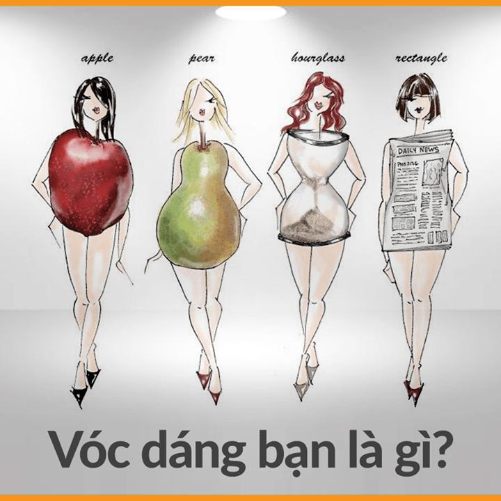 Phải biết mình thuộc vóc dáng hình gì, thì mới có thể giảm béo chuẩn được!!!