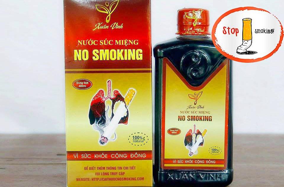 Nước súc miệng Cai Thuốc Lá No - Smoking