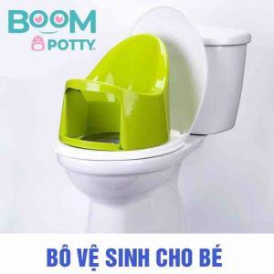 Bô rửa vệ sinh cho bé rất tiện lợi - thương hiệu Boom Potty VN
