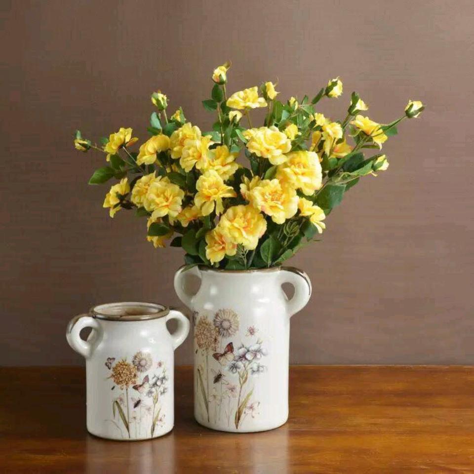Cặp bình hoa American Style có tay cầm