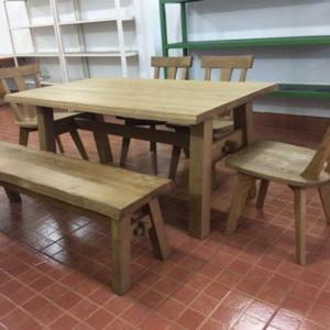 Bộ bàn ăn gỗ Sồi Oak Solid GTN - AP 027