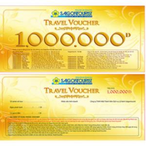 Saigontourist Travel Voucher trị giá lên tới 1 -2 triệu VND