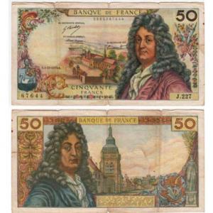 TIỀN FRANCE 50 FRANCS 1973