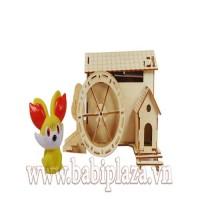 Bộ đồ chơi lắp ghép bằng gỗ thông minh EK-SDIY04W