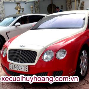 Cho Thuê Xe Cưới Bentley Màu Trắng Đỏ