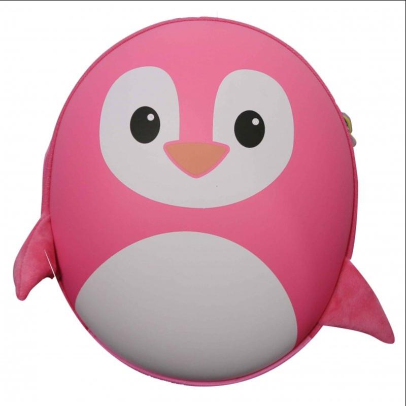 Ba lô trẻ em hình chim cánh cụt màu hồng BB Bag