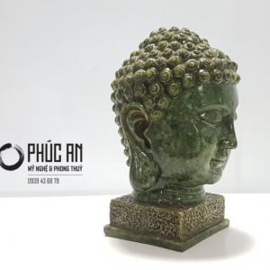 Tượng đá mỹ nghệ Đầu Phật có đế